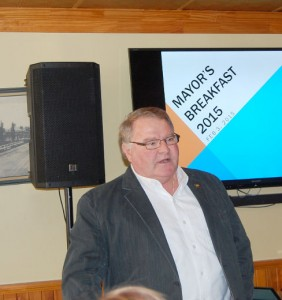 Lambton Shores is going forward said mayor Bill Weber at the fourth annual Chamber of Commerce Breakfast with the Mayor.