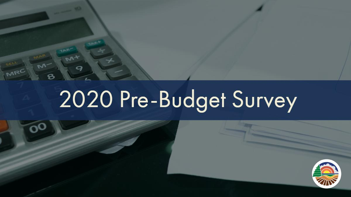 Have your say on the budget