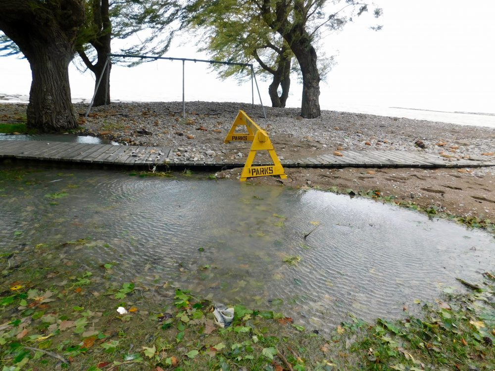Warning of flooding, erosion as storm moves on Lake Huron shoreline